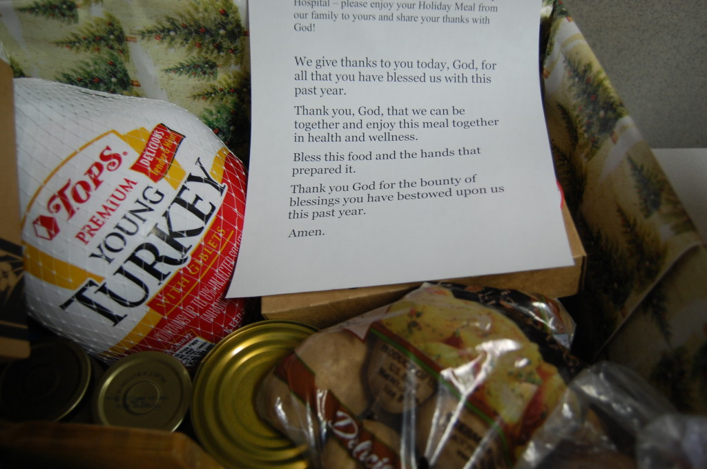 This basket includes a prayer.