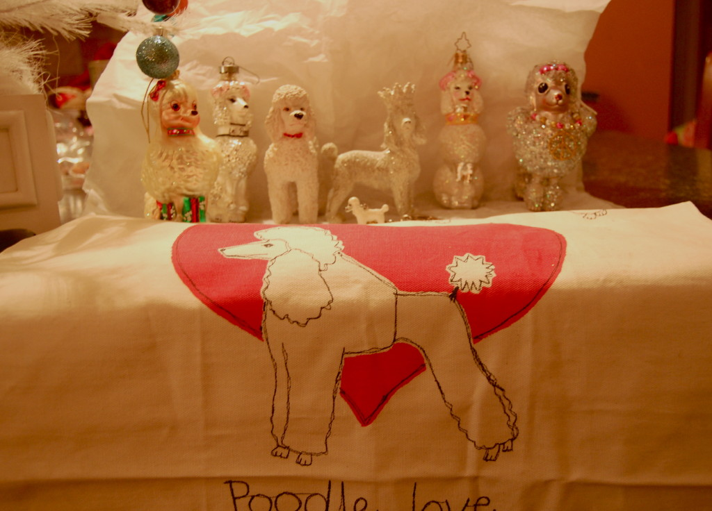 Some people collect nutcrackers, Byers Choice, or Spode China for Christmas. I prefer the poodle ornaments.