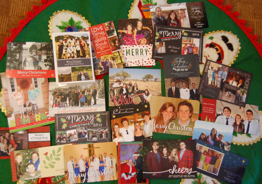 Photo Christmas cards are more interesting and more personal.