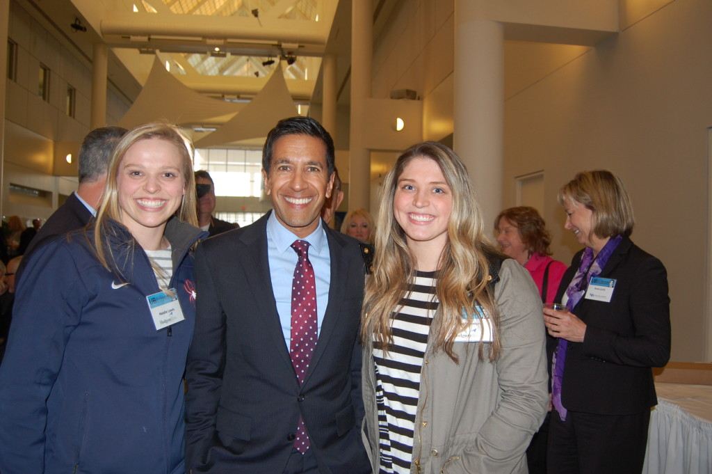 Natalie and Caroline meet Dr. Sanjay Gupta who said to do something everyday that scares you.