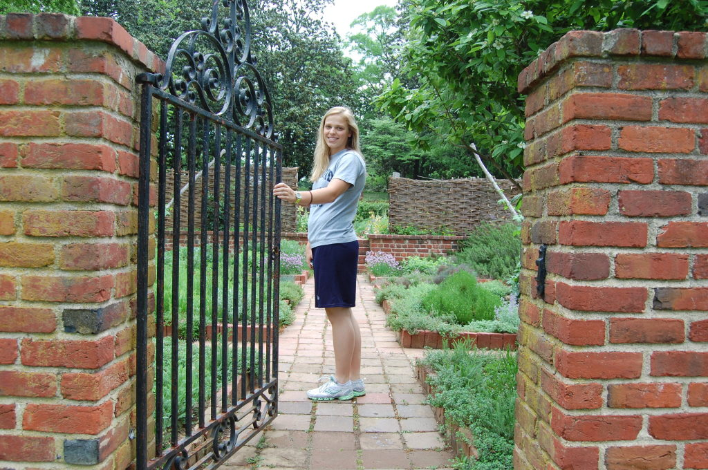 Natalie lead the way. A natural leader by the way she lived. Here she is opening the gates for us at the Virginia House. Natalie was a history buff and loved teaching us all about the Capital of Virginia - Richmond. Natalie loved nature and was a natural beauty.