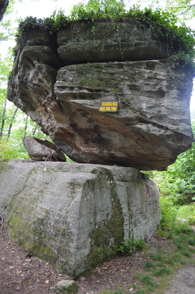 This is a 1,000 ton boulder balancing on another rock!